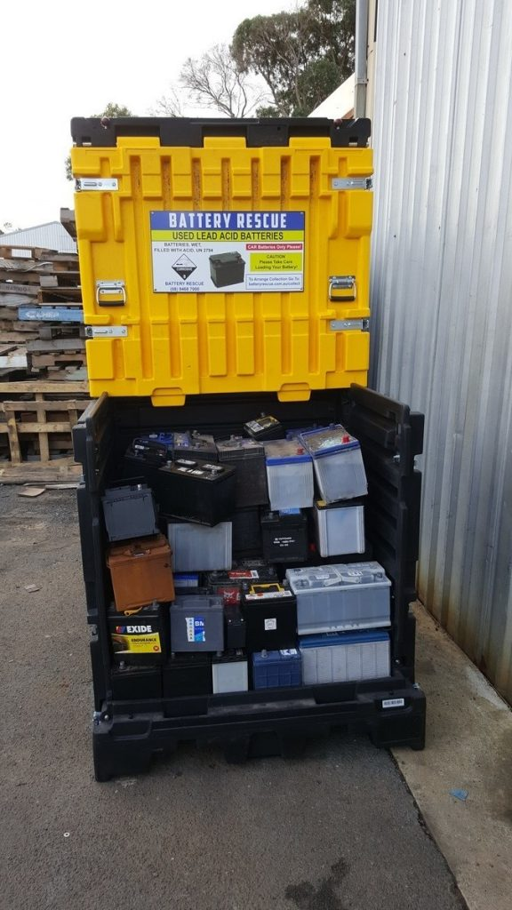 Battery Container Storage Amp Transportation Of Used Lead